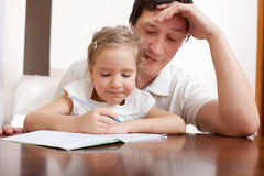 Father with daughter royalty free stock image