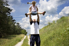 The father and the daughter 3 Stock Photos