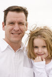 Father and Daughter. Portrait Outdoors royalty free stock images