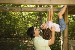 Father and daughter. Royalty Free Stock Photos