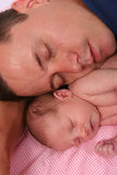Father and daughter. Proud father with baby Royalty Free Stock Photo
