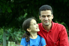 Father and Daughter. A proud father with his daughter Royalty Free Stock Image