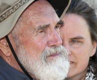 Father and daughter. Closeup stock image