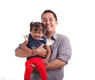 Father and daughter. Portrait of father and daughter Royalty Free Stock Photography