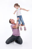 Father And Daughter. Father with his little daughter royalty free stock images