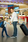 Father daughter airport Royalty Free Stock Photos