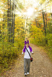 Father and daughter in autumn Stock Photography