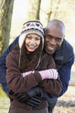Father And Daughter On Autumn Walk Royalty Free Stock Photo
