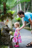 Father and daughter in Bali. Happy father and his adorable little daughter in Bali stock photography