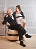 Father and Daughter: a Bat Mitzvah girl with her father Stock Photos