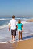 Father and daughter on beach Stock Photography