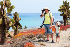 Father and daughter at beautiful outdoor setting Stock Photos