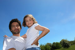 Father and daughter bonding Stock Photography