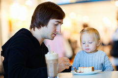 Father and daughter at cafe Stock Photo
