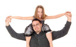 Father with daughter. stock photos