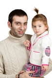 Father and daughter closeup Royalty Free Stock Photography