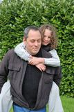 Father and daughter. Complicity between father and daughter stock photos