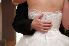 Father Daughter Dance. A bride's last dance with her father stock photo