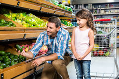 Father and daughter doing shopping Stock Images