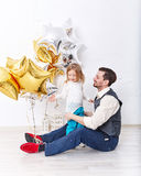 Father and daughter. Family celebration. Royalty Free Stock Images