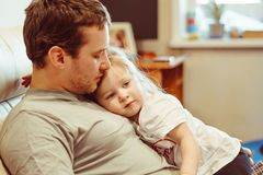 Father and daughter. Share love royalty free stock images