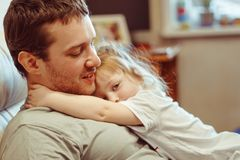 Father and daughter. Share love royalty free stock photos
