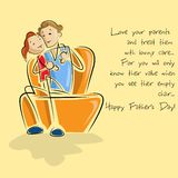 Father and daughter in Father's Day background Royalty Free Stock Image