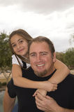 Father and daughter fun time royalty free stock photography