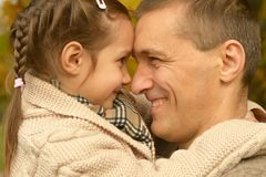 Father with daughter Royalty Free Stock Images