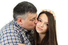 Father and daughter Stock Images