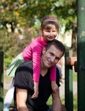 Father And Daughter having fun Royalty Free Stock Image