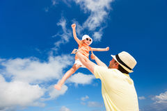 Father and daughter having fun Stock Images