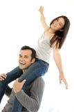 Father and Daughter having fun Stock Photos