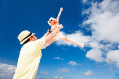 Father and daughter having fun Stock Photography