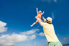 Father and daughter having fun Stock Image