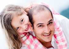 Father and daughter having fun Royalty Free Stock Photography