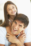Father And Daughter Having Fun Together Royalty Free Stock Photos