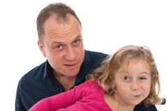 Father and daughter Stock Image