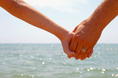 Father and daughter holding hands Royalty Free Stock Photo