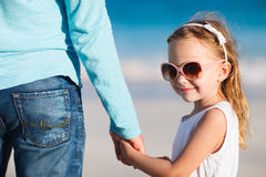 Father and daughter holding hands Stock Photos