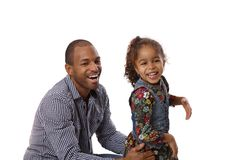 Father and daughter laughing Stock Image