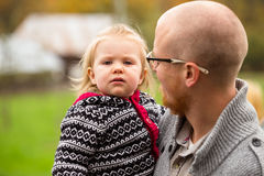 Father Daughter Lifestyle Portrait Royalty Free Stock Photo