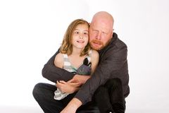 Father and Daughter making funny faces Stock Photography