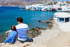 Father and daughter in Mykonos Royalty Free Stock Photography