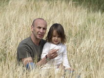 Father and daughter on nature Royalty Free Stock Images
