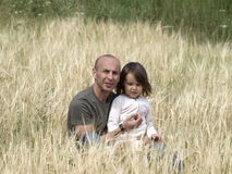 Father and daughter on nature Royalty Free Stock Photo
