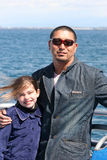 Father Daughter at the Ocean. Multicultural Father and Daughter royalty free stock photo
