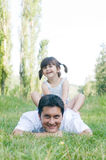 Father and daughter outdoor Royalty Free Stock Images