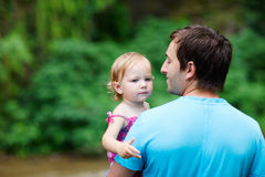 Father and daughter outdoors Stock Image