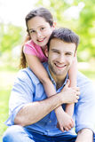 Father and daughter outdoors Royalty Free Stock Photos